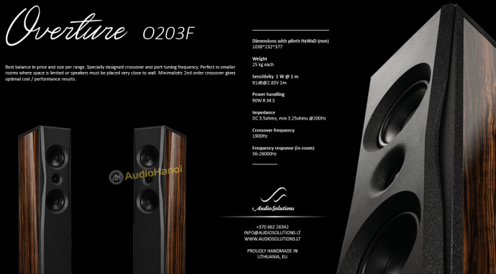 loa AudioSolutions Overture O203F chuan