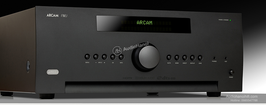 Arcam of Cambridge: AVR550 Dolby Atmos 7.1 Channel Receiver. Massively powerul amplification. Word-class 4K AV performance, DIRAC Room Correction and the unprecedented ability in this field to play music properly www.arcam.co.uk
