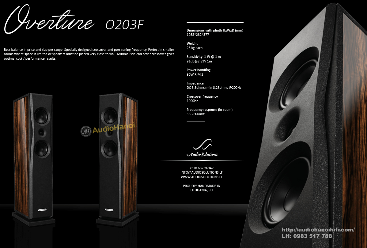 loa AudioSolutions Overture O203F chat