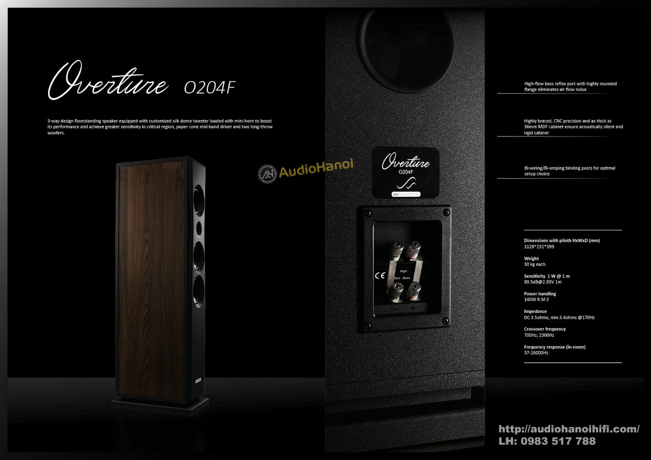 loa AudioSolutions Overture O204F tot