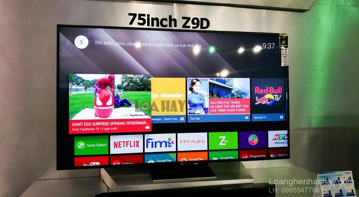 TV Bravia 4K HDR Z9D