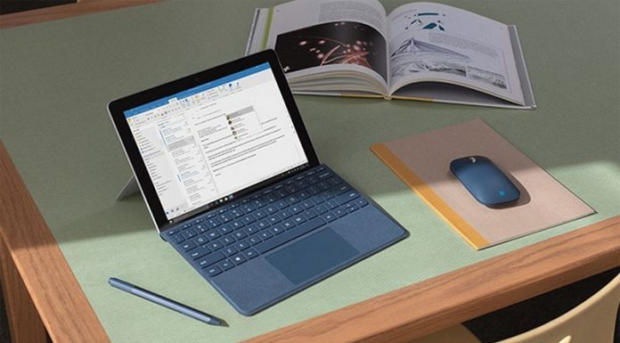 May tinh Microsoft Surface Go chuan