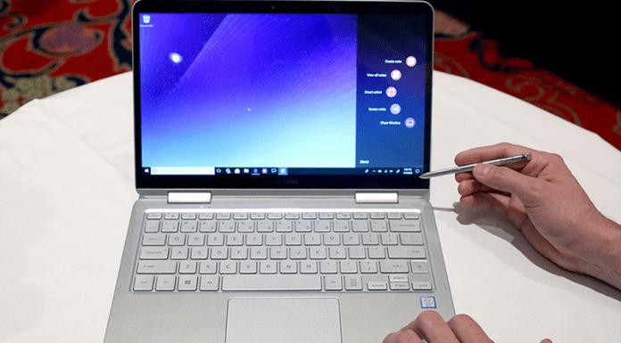 May tinh Samsung Notebook 9 Pen chuan