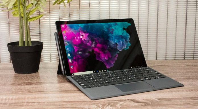 May tinh xach tay Microsoft Surface Pro 6 chuan