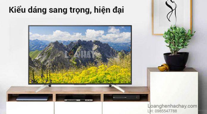 Android Tivi Sony 4K 49 inch KD-49X7500F chuyen