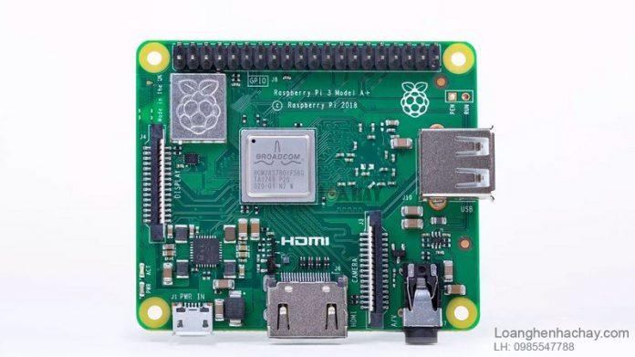 May tinh Raspberry Pi 3 A+ chuan
