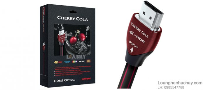 Day tin hieu AudioQuest HDMI Cherry Cola