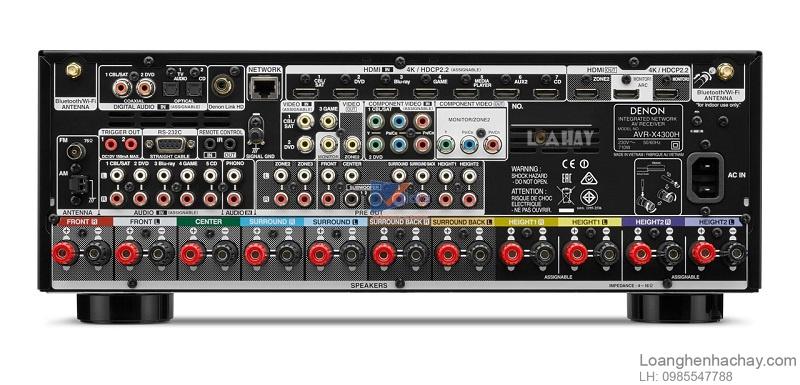 Ampli Denon AVR-X4300H dep