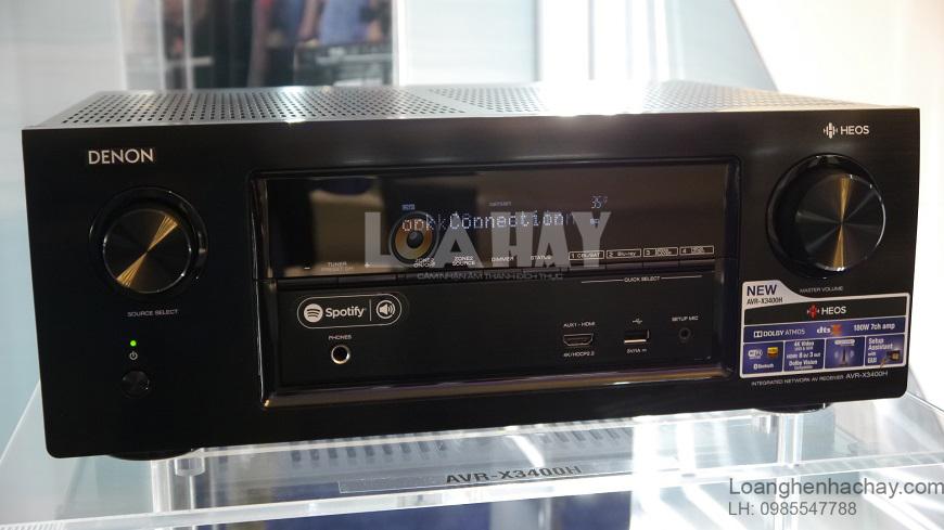 Ampli Denon AVR-X3400H can canh loanghenhachay
