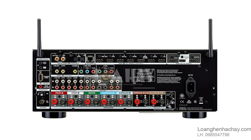 Ampli Denon AVR-X3400H loanghenhachay
