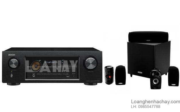 Ampli Denon AVR-X540BT va loa loanghenhachay