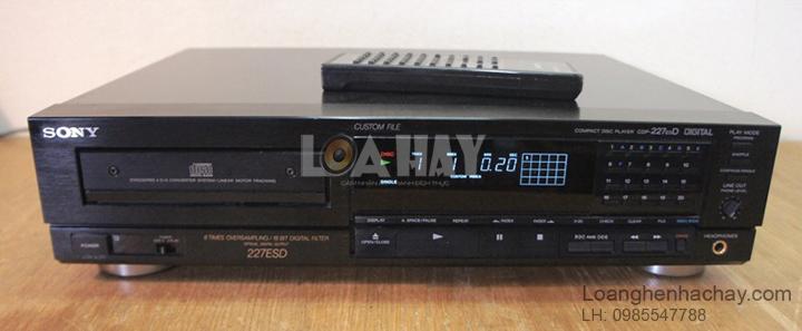 Dau Sony CDP-227ESD loanghenhachay