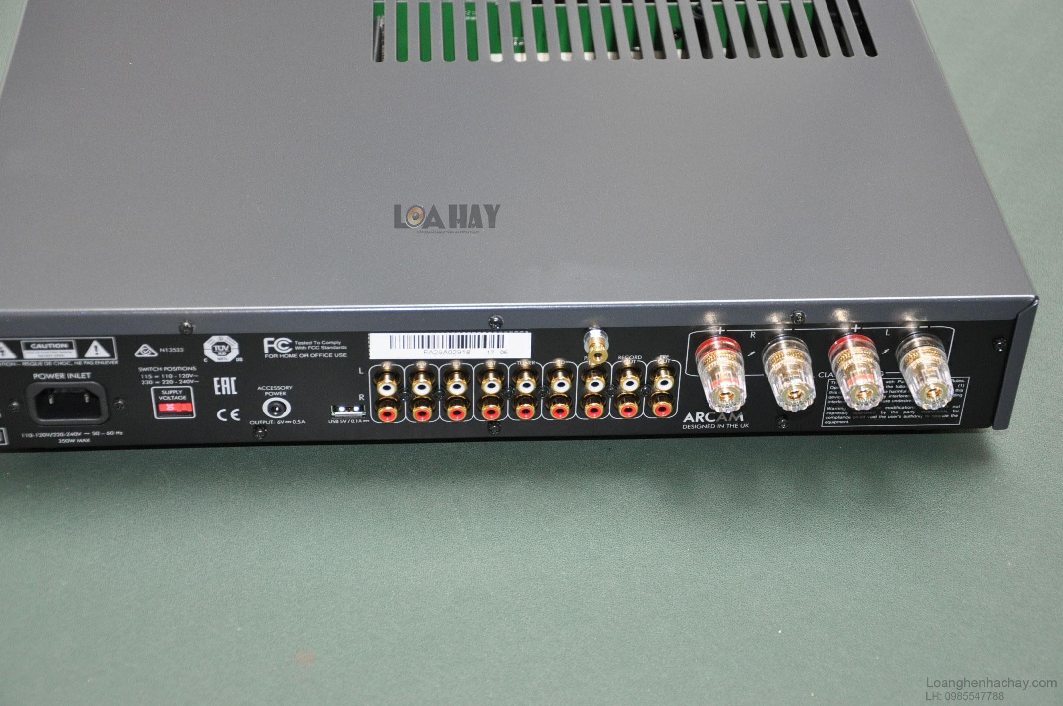 Những trang bị tiên tiến trên chiếc ampli Arcam FMJ A29 mat tren