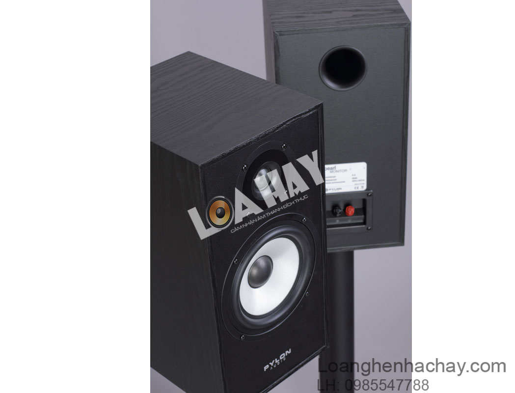 loa pylon audio pearl monitor black