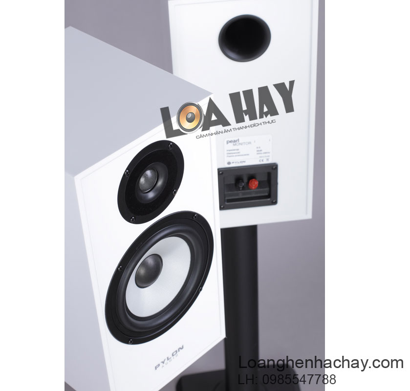 loa pylon audio pearl monitor white